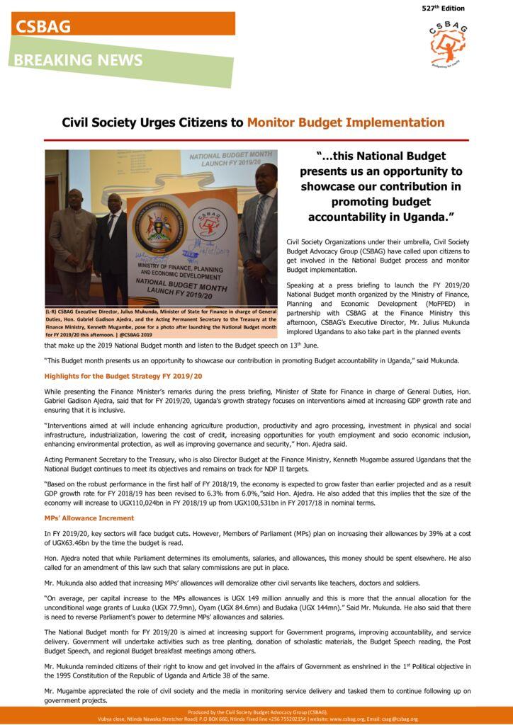 thumbnail of CSBAG NEWS UPDATE 530