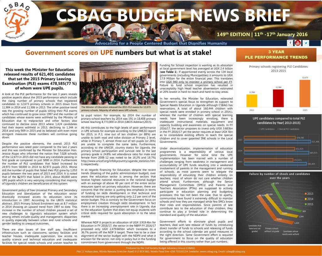 thumbnail of CSBAG BUDGET NEWS 149 jan-18-2016