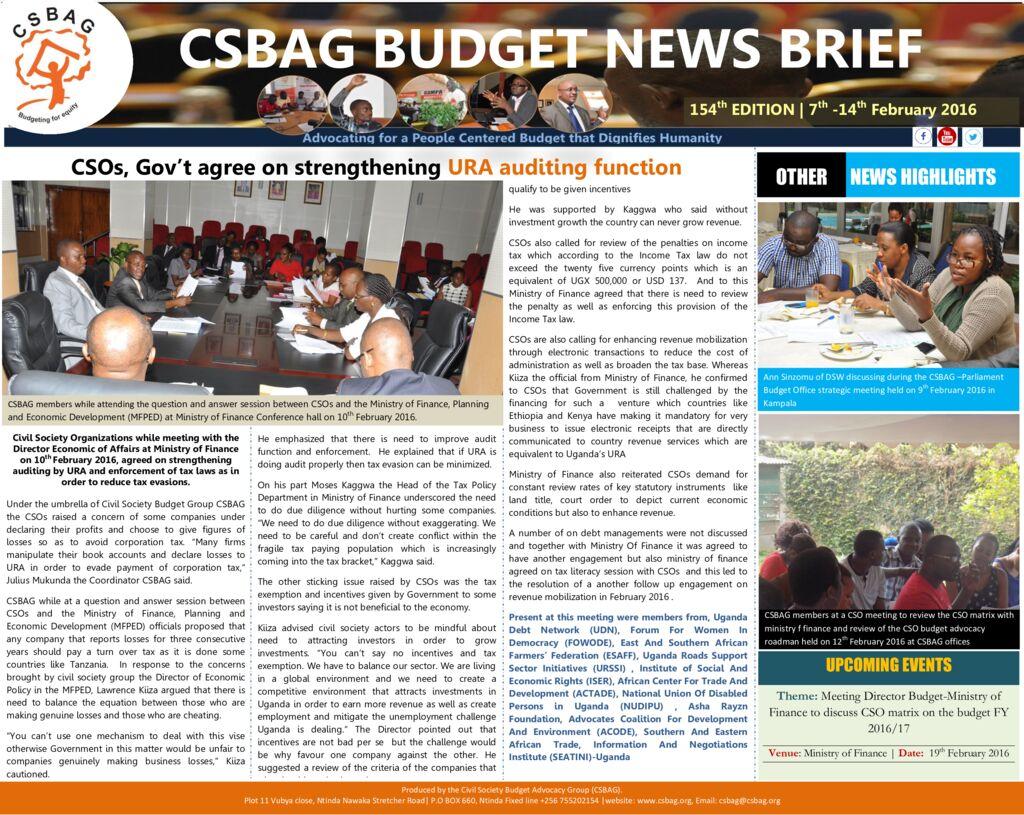 thumbnail of CSBAG BUDGET NEWS 154-15-feb-2016