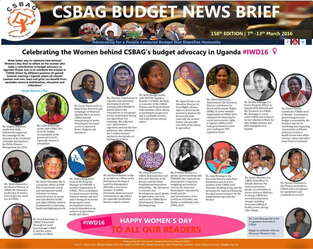 thumbnail of CSBAG BUDGET NEWS 158. 13-Marcch 2016