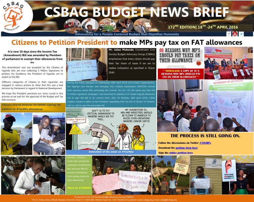thumbnail of CSBAG BUDGET NEWS 172-24-April-2016