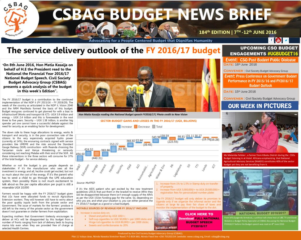 thumbnail of CSBAG BUDGET NEWS 184