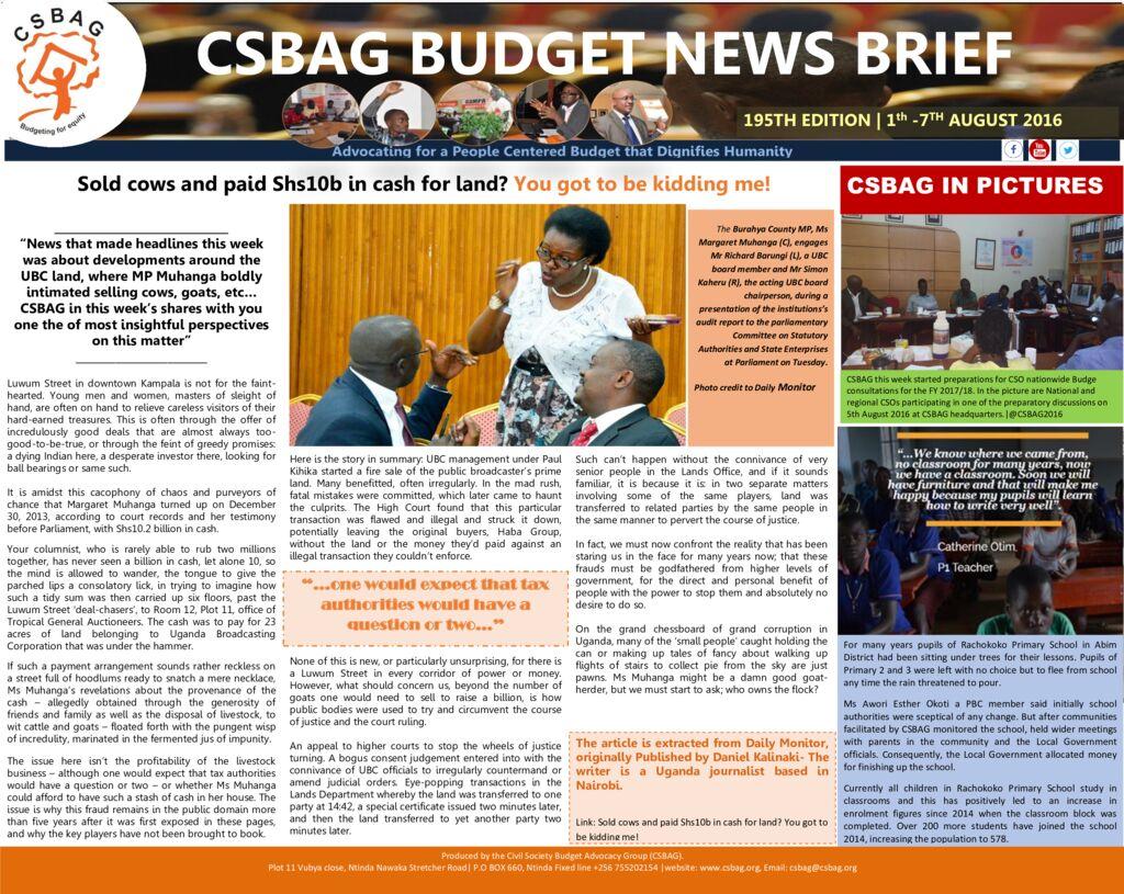 thumbnail of CSBAG BUDGET NEWS 195th