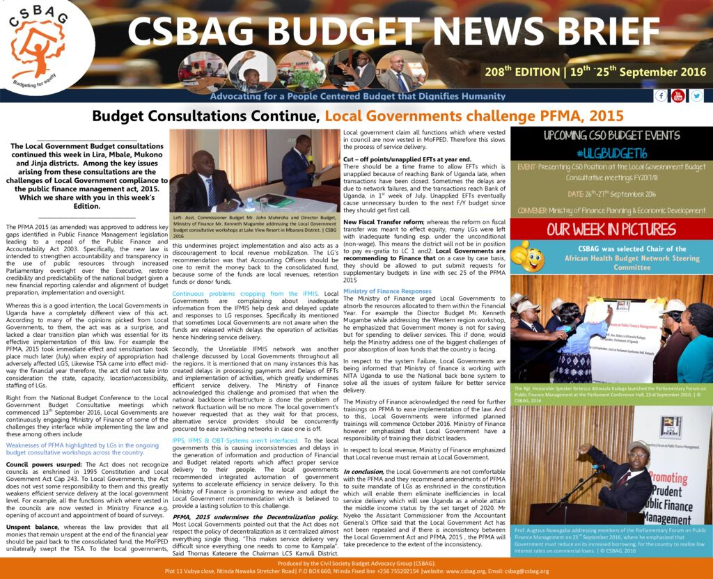 thumbnail of CSBAG BUDGET NEWS 208