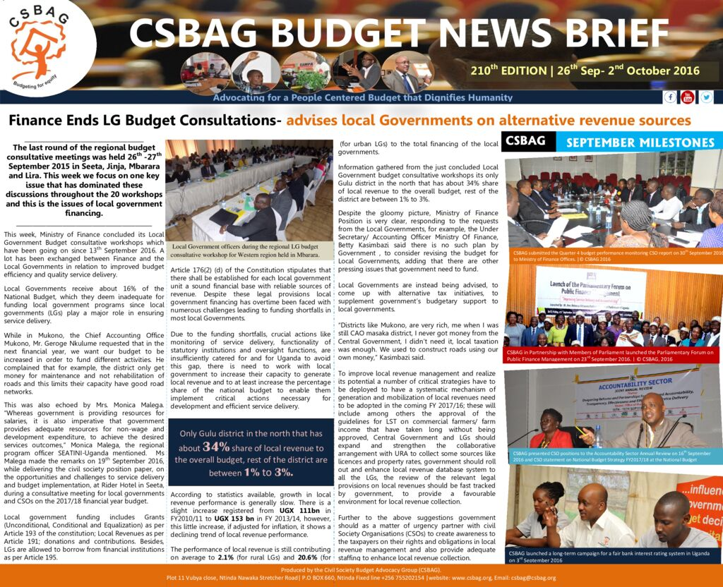 thumbnail of CSBAG BUDGET NEWS 210th Edition