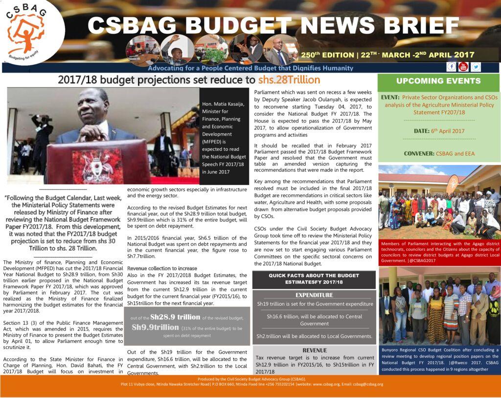 thumbnail of CSBAG BUDGET NEWS 250