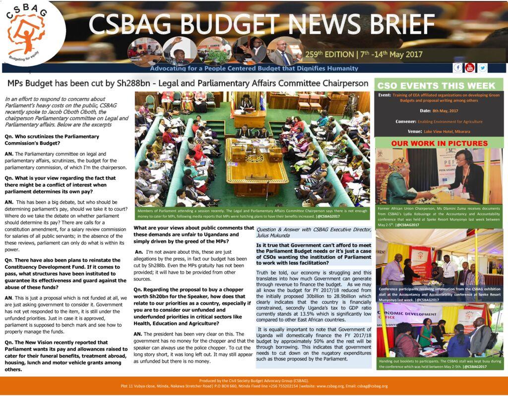 thumbnail of CSBAG BUDGET NEWS 259th Edition