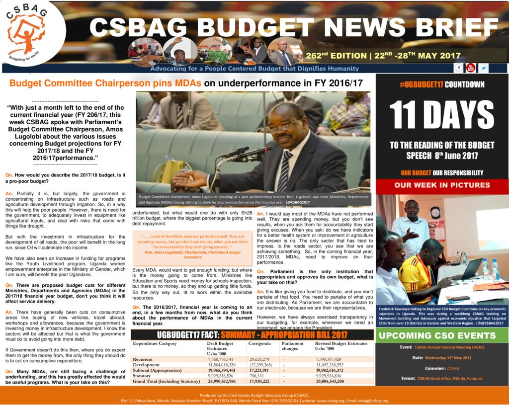 thumbnail of CSBAG BUDGET NEWS 262nd Edition (1)