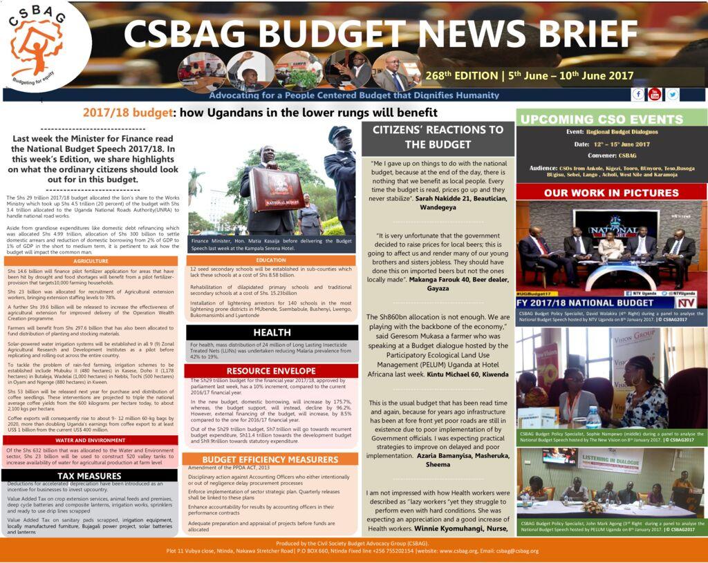 thumbnail of CSBAG BUDGET NEWS 268th Edition