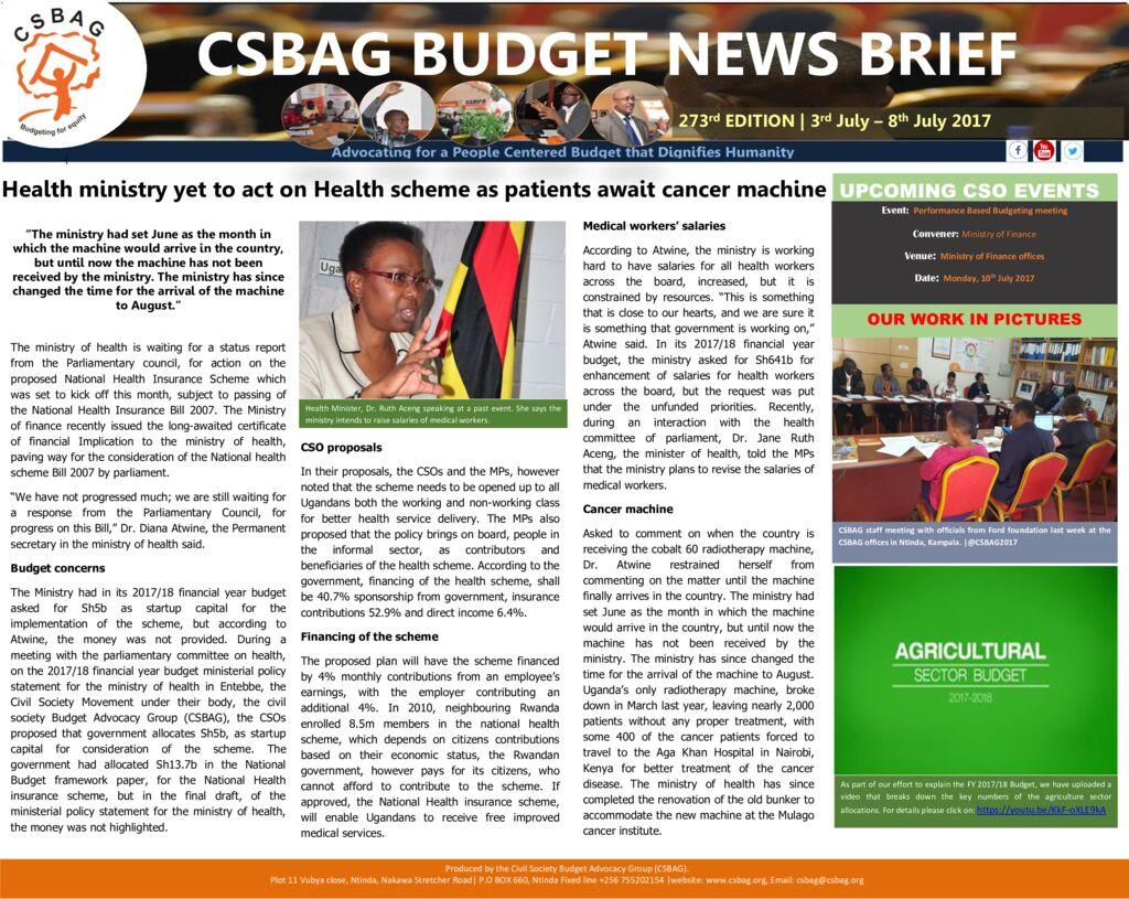 thumbnail of CSBAG BUDGET NEWS 273rd Edition