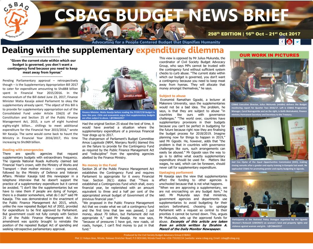thumbnail of CSBAG BUDGET NEWS 298th Edition-Dealing with the supplementary expenditure dilemma