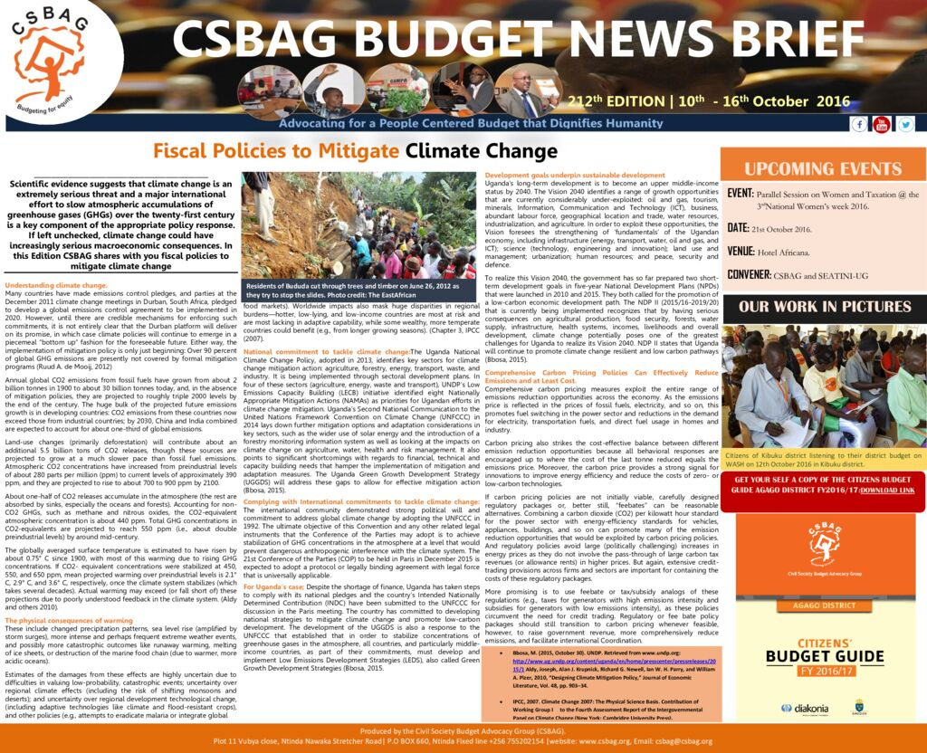 thumbnail of CSBAG BUDGET NEWS LETTER .212-17th Oct 2016