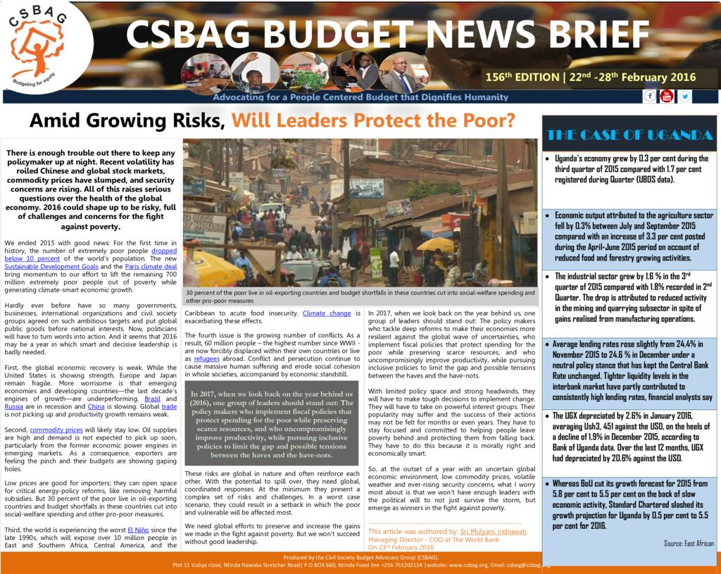 thumbnail of CSBAG BUDGET NEWS.156-29-feb-2016