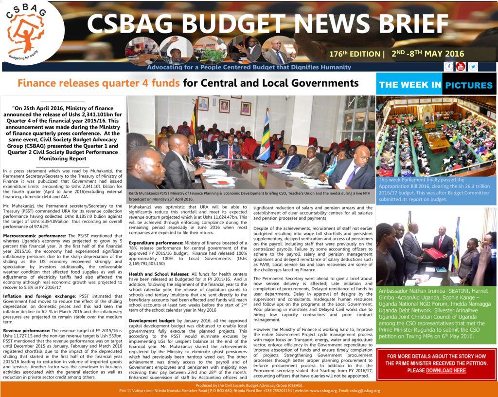 thumbnail of CSBAG BUDGET NEWS.176.8th May 2016