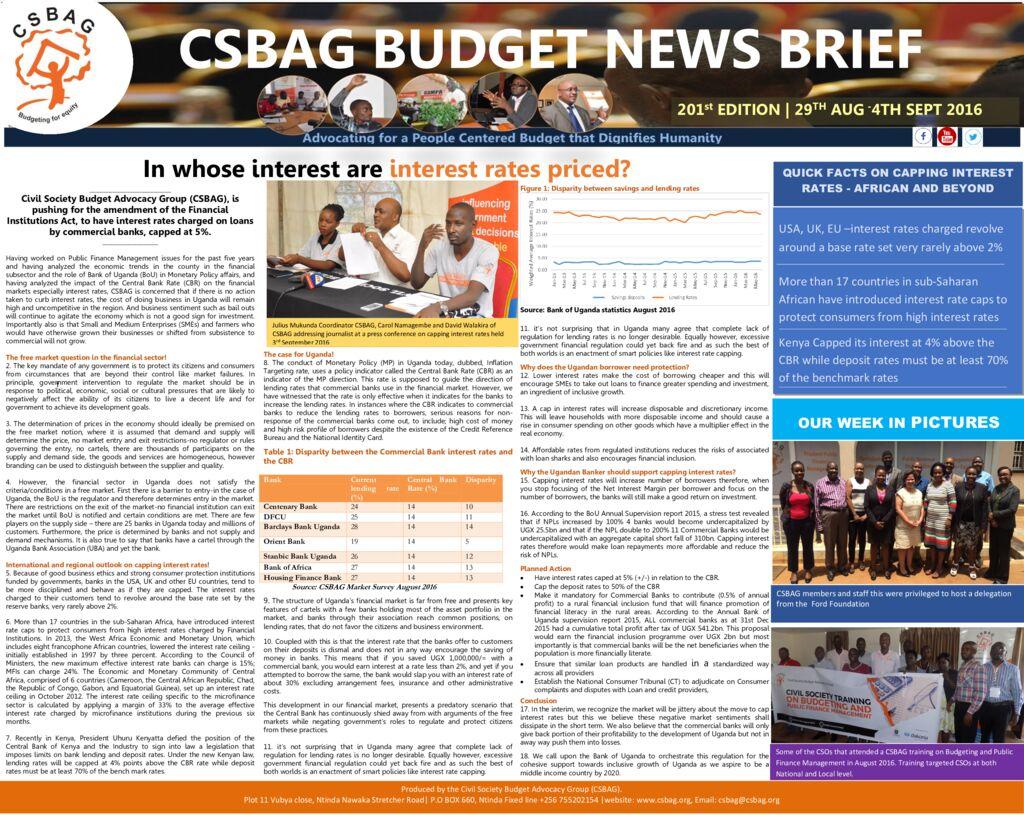 thumbnail of CSBAG BUDGET NEWS.201st Edition