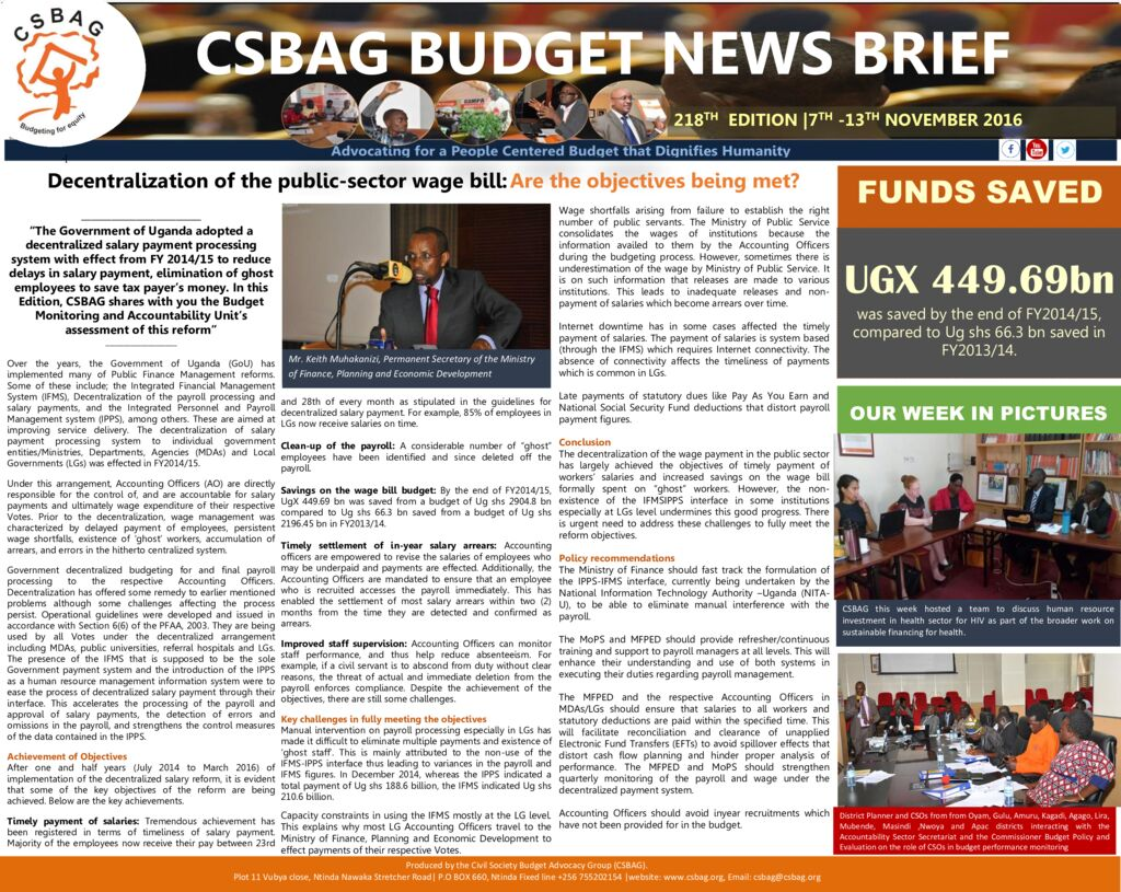 thumbnail of CSBAG BUDGET NEWS.218th