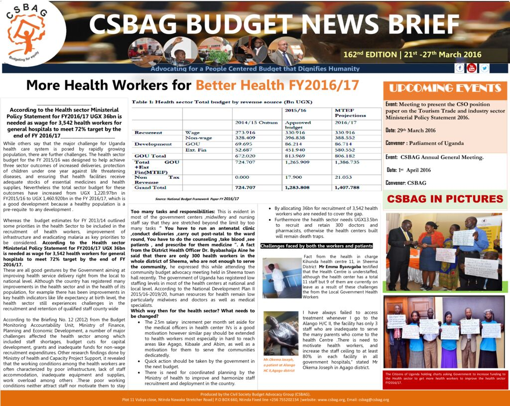 thumbnail of CSBAG WEEKLY BUDGET NEWS.162nd edition 27-march 2016