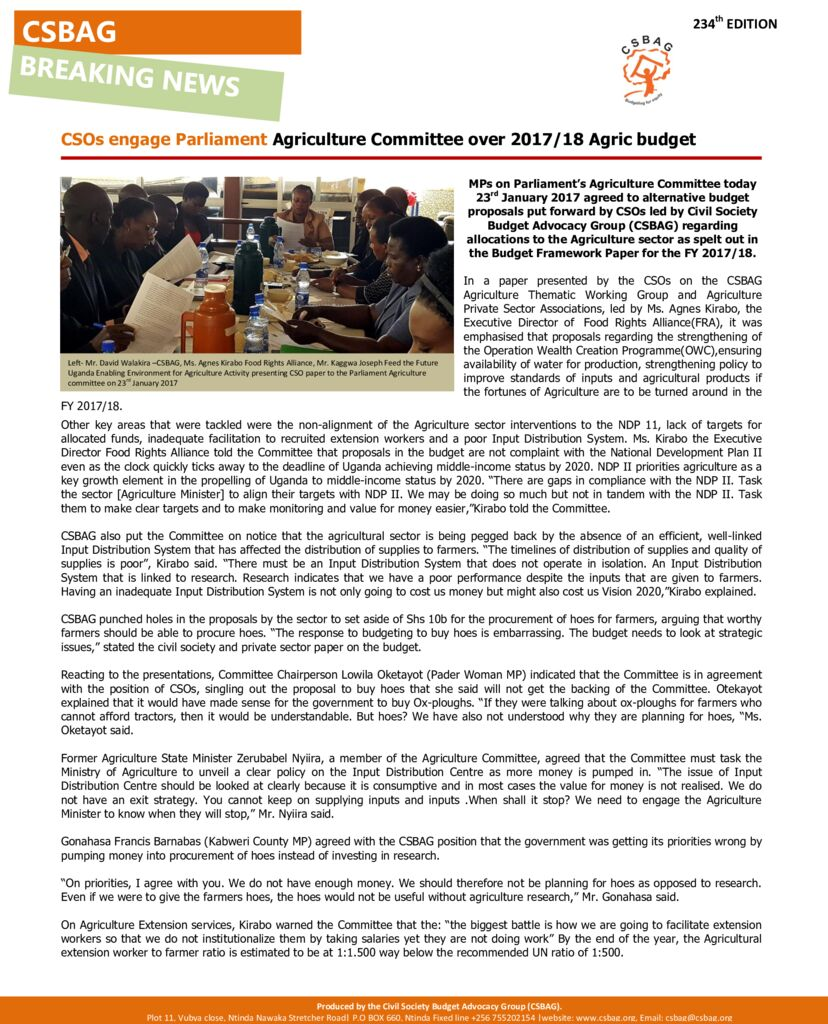 thumbnail of CSOs engage Parliament Agriculture Committee over 2017-18 Agric budget