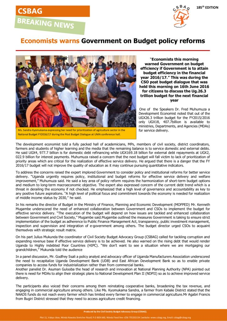 thumbnail of CSOs task Gov't on improved service delivery in FY201617