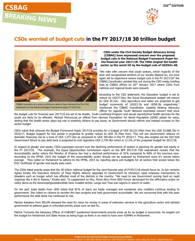 thumbnail of CSOs worried of budget cuts