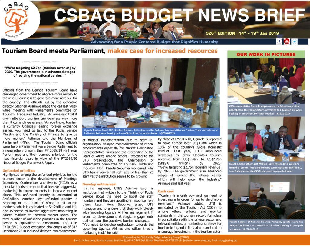 thumbnail of CSBAG BUDGET NEWS 526 20th Jan 2019