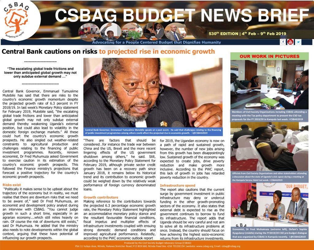 thumbnail of CSBAG BUDGET NEWS 530 10th Feb 2019