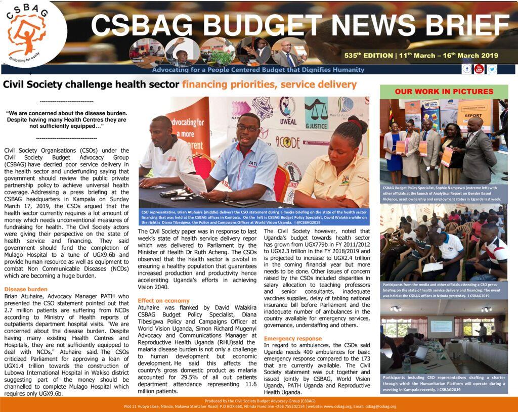 thumbnail of CSBAG BUDGET NEWS 53517th March 2019