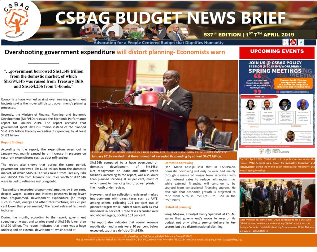 thumbnail of CSBAG BUDGET NEWS 537TH