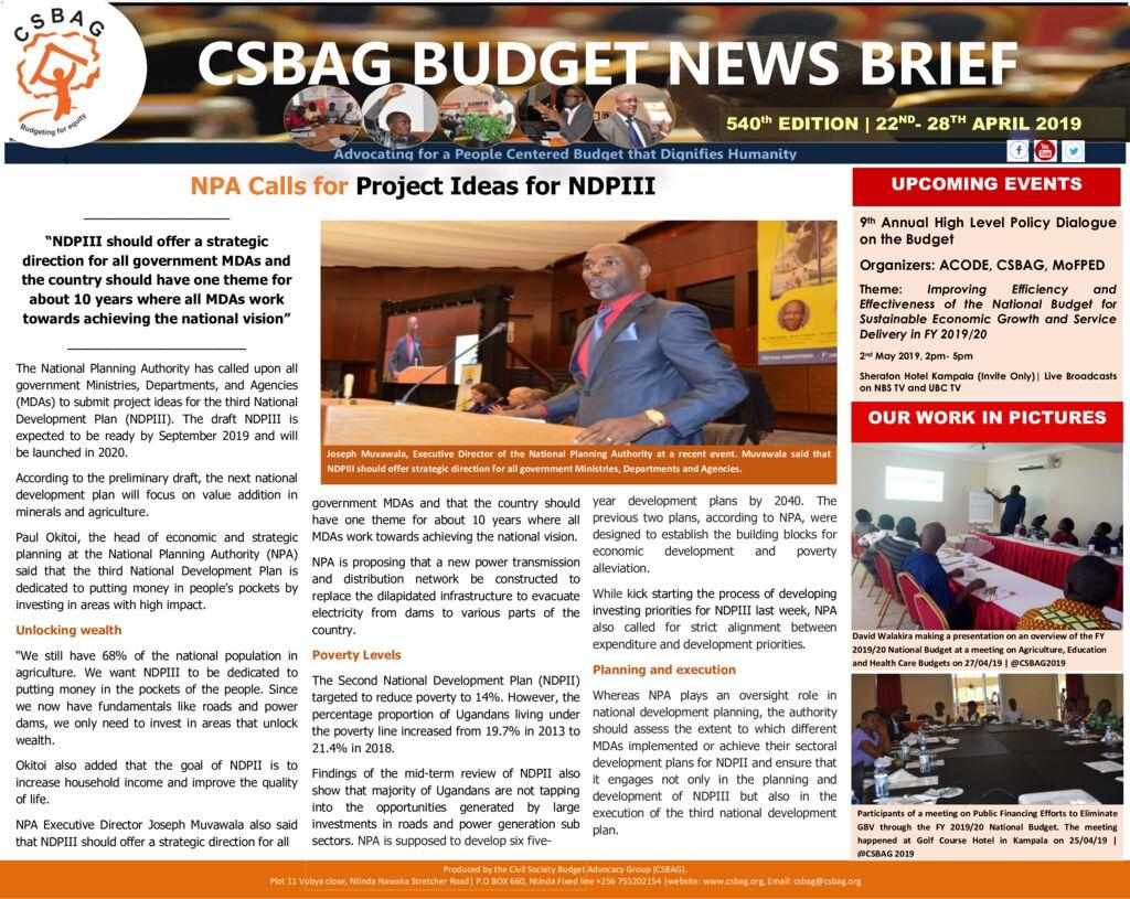 thumbnail of CSBAG BUDGET NEWS 540