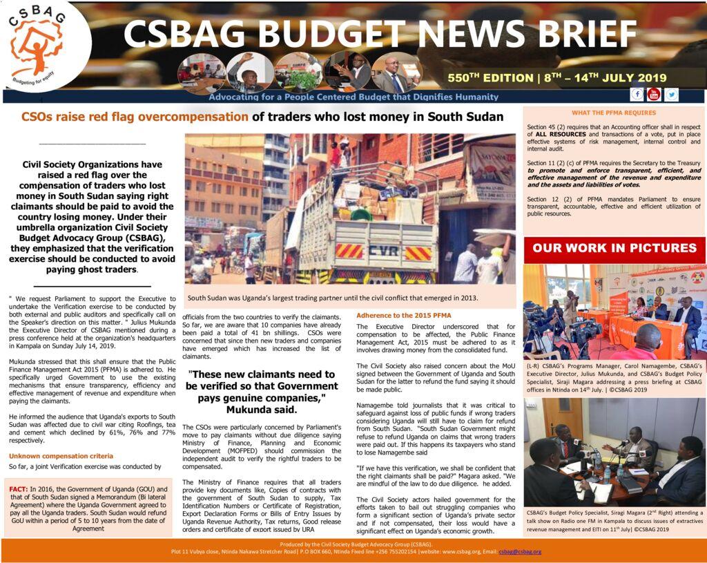 thumbnail of CSBAG BUDGET NEWS BRIEF-550TH EDITION (1)