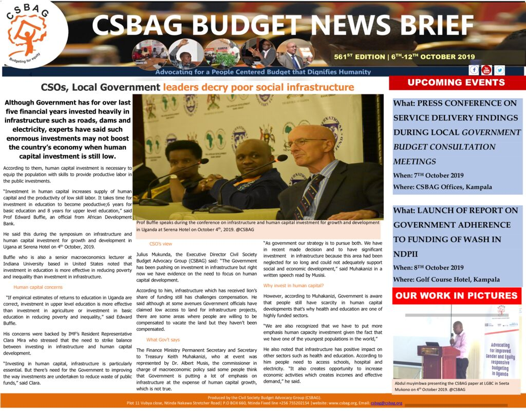 thumbnail of CSBAG BUDGET NEWS- Experts urge Gov't on balanced infrastructure and human capital investment