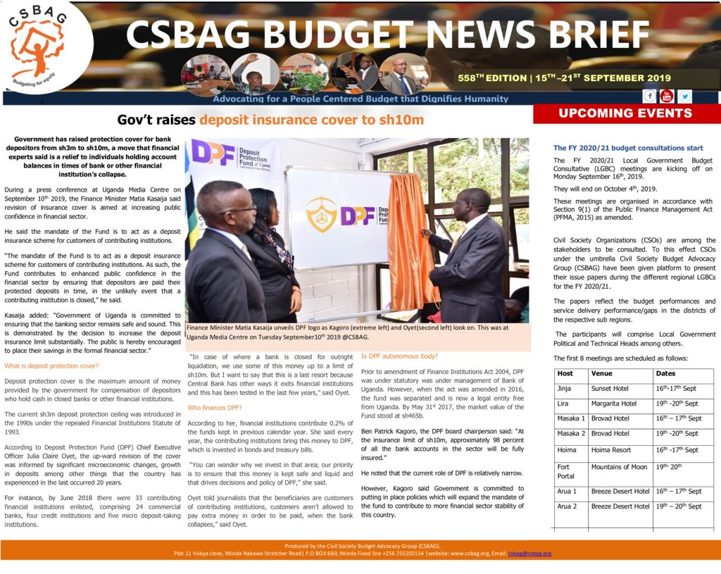 thumbnail of CSBAG BUDGET NEWS Update Deposit Protection Fund