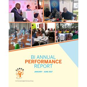CSBAG Bi Annual Performance Report January-June 2017