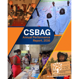 CSBAG Annual Performance Report 2016