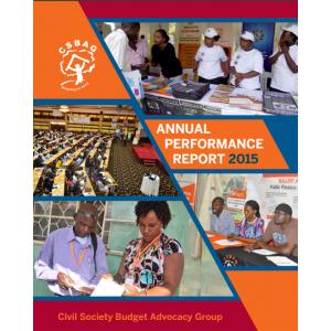 CSBAG Annual Performance Report 2015