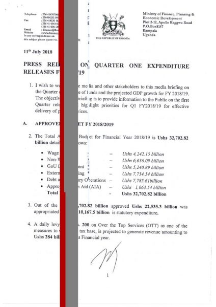 Press Release On Quarter One Expenditure Releases FY2018-19.pdf