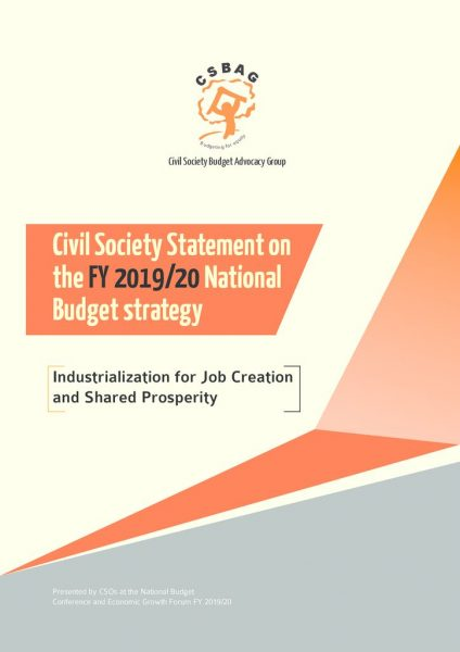 The Civil Society Statement On The FY 2019-20 Budget Strategy