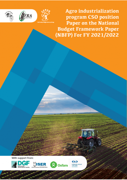 CSO Position paper on the Agro Industrialization Programme NBFP FY 2021/2022
