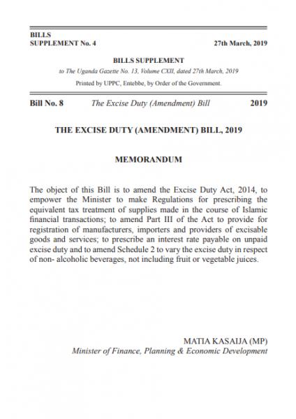 Tax Procedures Code (Amendment) Bill, 2019