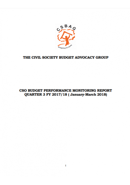 CSO Budget Perormance Monitoring Report Q3 FY 2017/18