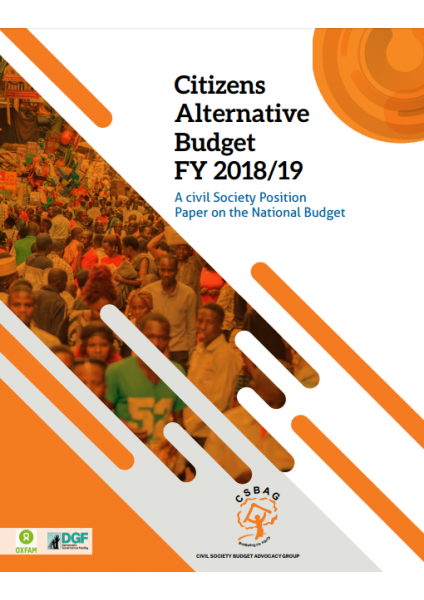 Citizens Alternative Budget FY 2018/19-A Civil Society Position Paper On The National Budget