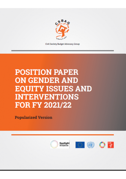 Position Paper on Gender and Equity Issues and Interventions for FY 2021/22
