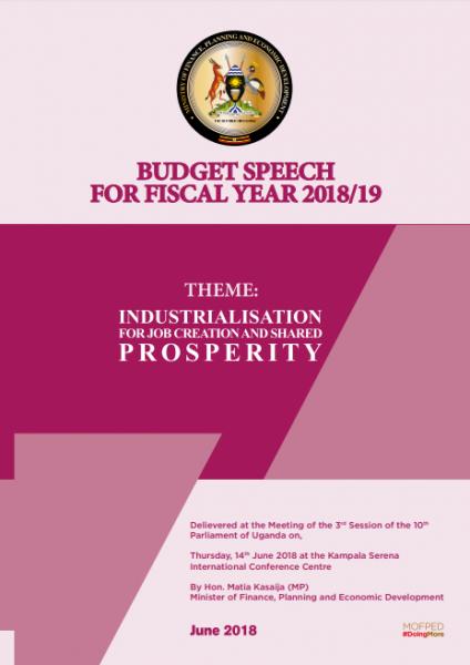 National Budget Speech Financial Year 2018/19