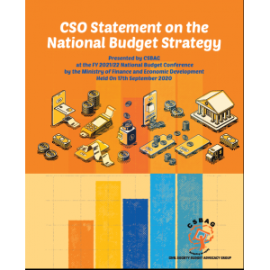 CSO Statement on the National Budget Strategy Presented by CSBAG at the FY 2021/22 National Budget Conference