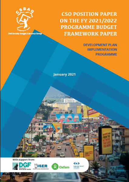 CSO Position paper on the FY 2021/2022 Programme Budget Framework paper