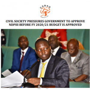 Civil Society Pressures Government to Approve NDPIII before FY 2020/21 Budget is Approved